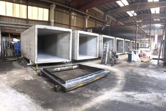Fertiggaragen Sehn Produktionshalle