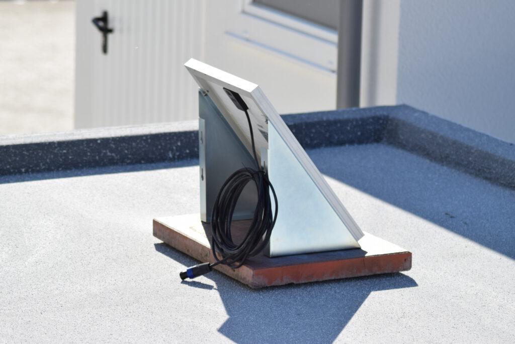 Solarpanel seitlich