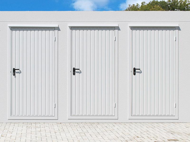 Sehn Fertiggarage mit Stahlsicke-Tür